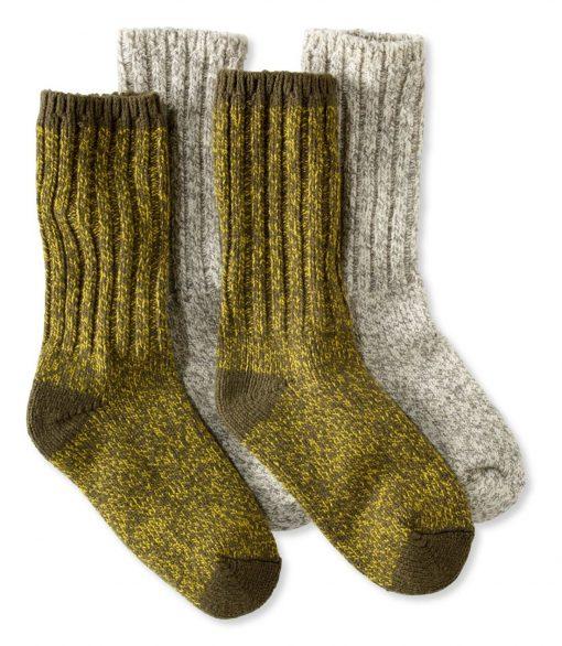 LL Bean Socks Kelp Green+Gray